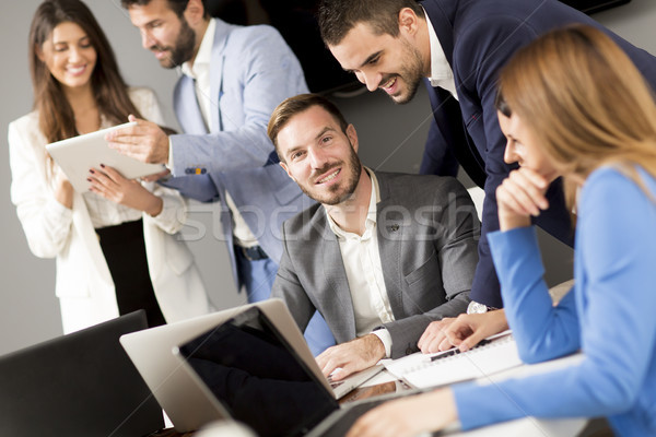 Team building in a modern office Stock photo © boggy
