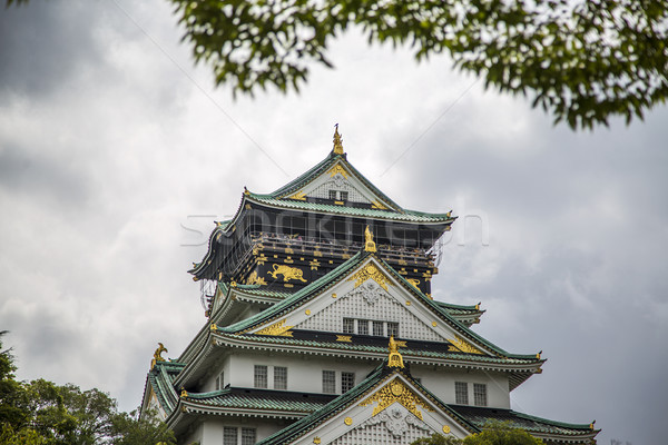 Osaka château Japon vue bâtiment mur Photo stock © boggy