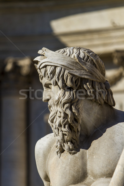 Detail of Fontana dei Quattro Fiumi on Piazza Navona in Rome Stock photo © boggy