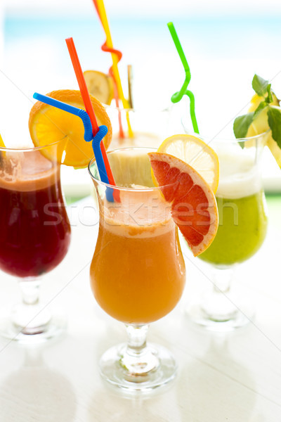 新鮮果物 ジュース 表示 自然 フルーツ ストックフォト © boggy