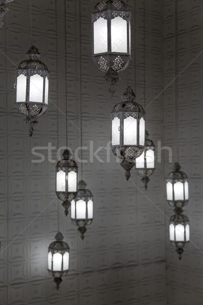 Japán lámpások Kiotó kilátás fény terv Stock fotó © boggy