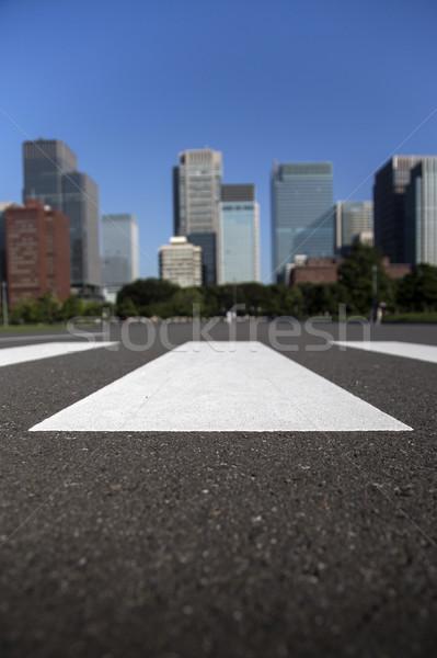 Przejście dla pieszych widoku nowoczesne miasta ulicy Zdjęcia stock © boggy