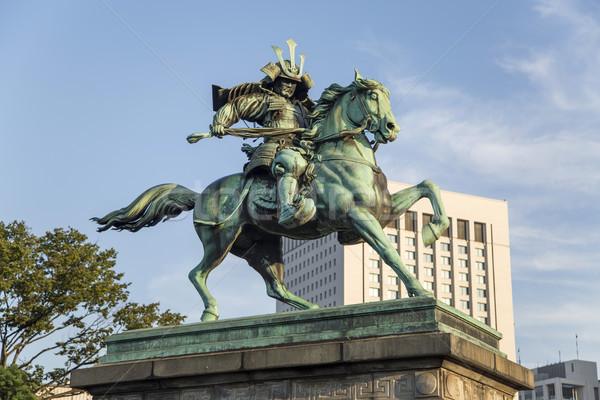 Estátua Tóquio Japão cavalo japonês cavaleiro Foto stock © boggy