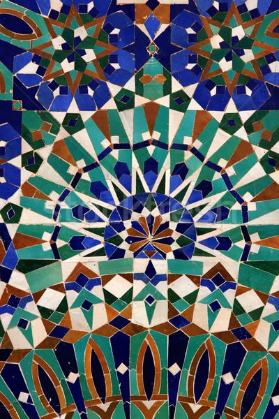 Forma csempe mecset muszlim mozaik Casablanca Stock fotó © boggy