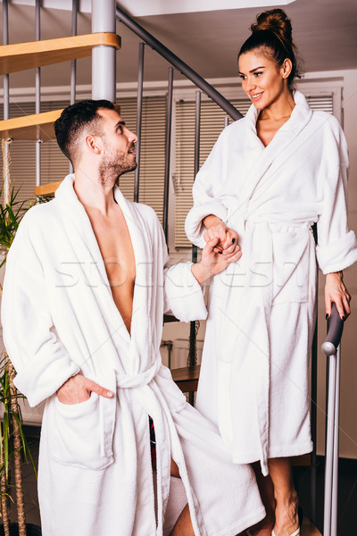 Couple enjoying wellness weekend and spa Stock photo © boggy