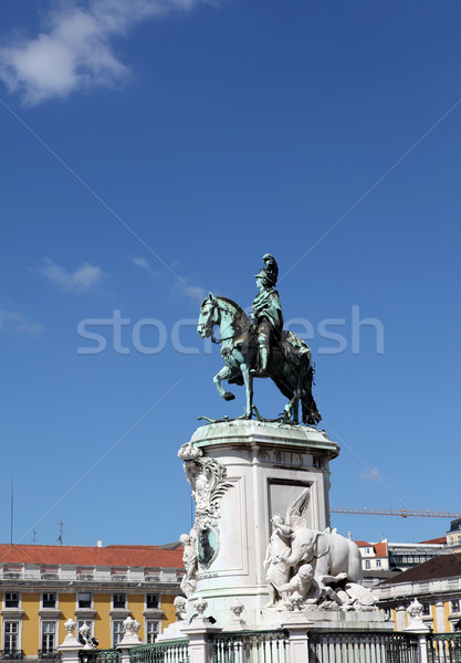 Statue of King Jose I on Commerce Square, Lisbon Stock photo © boggy