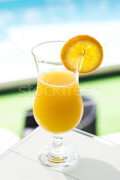 апельсиновый сок мнение свежие стекла воды продовольствие Сток-фото © boggy
