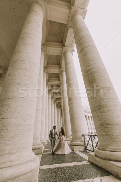 結婚式 カップル バチカン ローマ イタリア 小さな ストックフォト © boggy