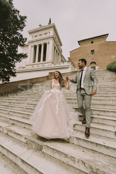 Wedding couple  in Rome, Italy Stock photo © boggy