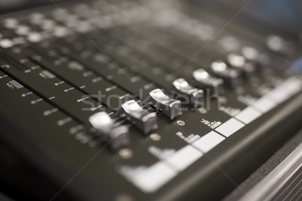 Konzol közelkép kilátás stúdió zene koncert Stock fotó © boggy