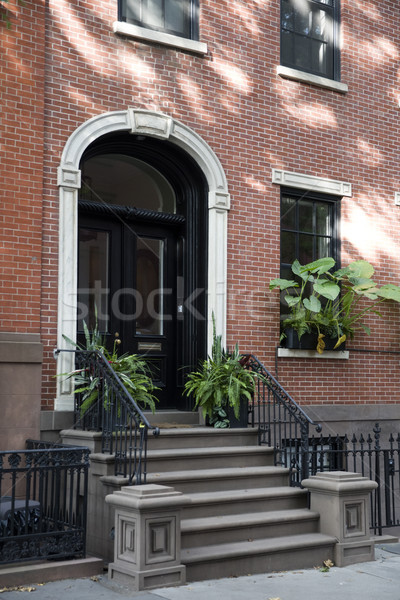 Traditional New York buildings from Brooklyn Heights Stock photo © boggy