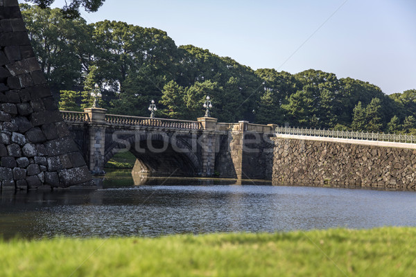 Seimon Ishibashi bridge at Imperial Palace in Tokyo Stock photo © boggy