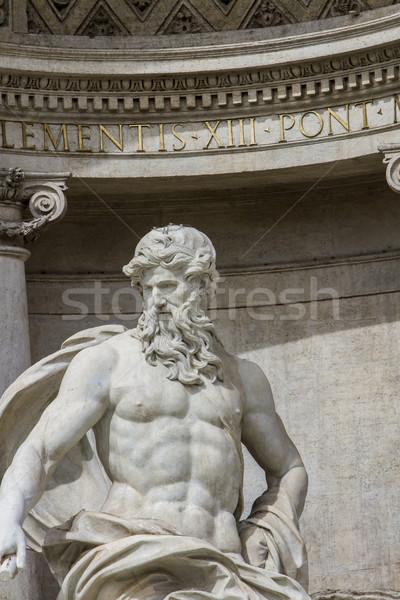 Trevi Çeşmesi Roma detay İtalya şehir kentsel Stok fotoğraf © boggy