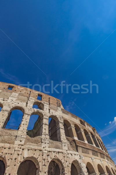 Колизей подробность Рим Италия небе солнце Сток-фото © boggy