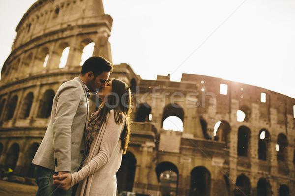 Kochający para Rzym miłości człowiek Zdjęcia stock © boggy