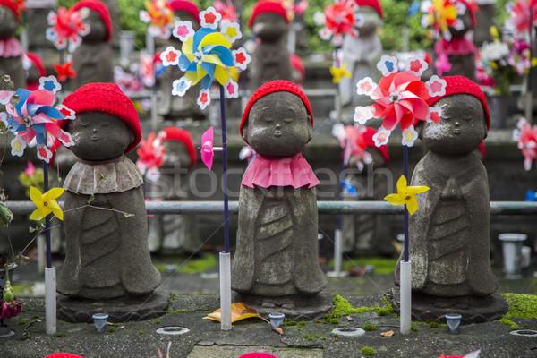 Jizo statues at Shiba park in Tokyo Stock photo © boggy
