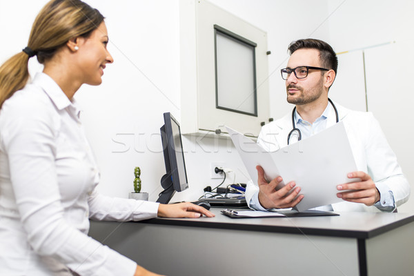 Young woman at a doctor's checkup Stock photo © boggy