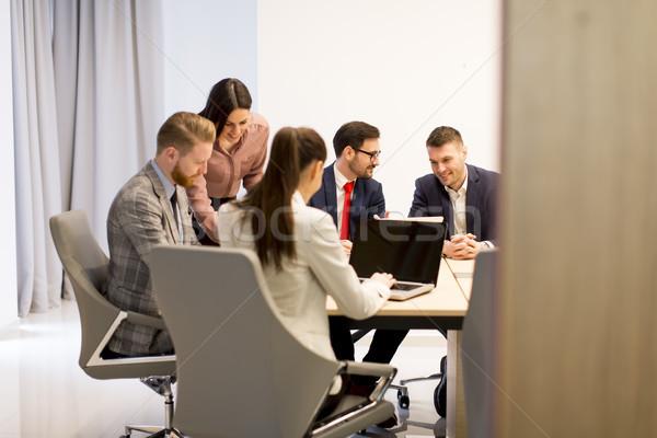 Gruppo persone seriamente lavoro nuovo progetto Foto d'archivio © boggy