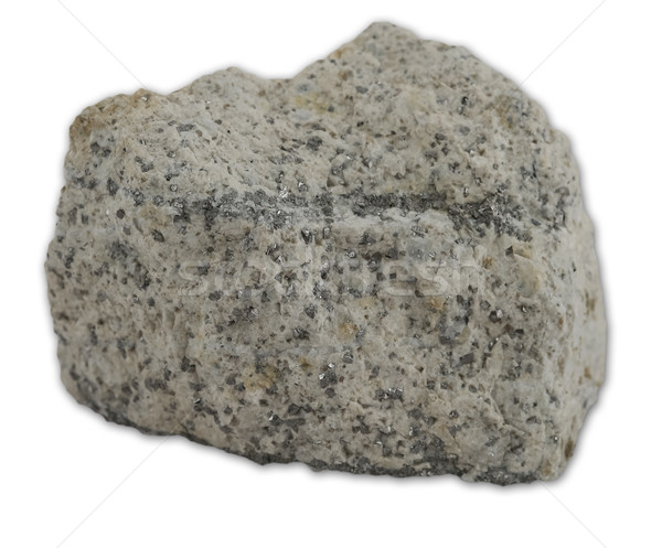 Granite rock isolated on the white background Stock photo © boggy