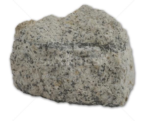 Granit kaya yalıtılmış beyaz görmek taş Stok fotoğraf © boggy