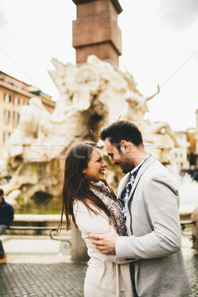 Loving couple being together in Rome, Italy Stock photo © boggy
