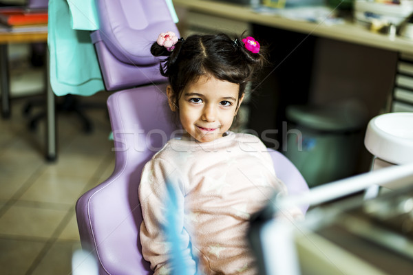 Little girl at dentist office Stock photo © boggy