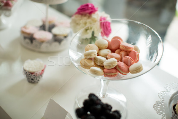 Wedding macaroon decoration Stock photo © boggy