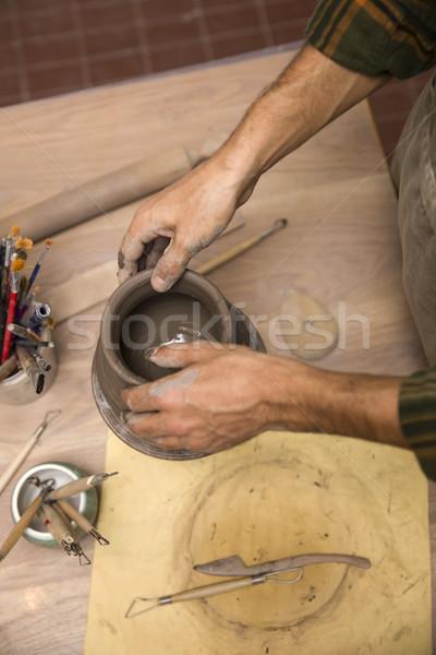 Top aardewerk workshop hand Stockfoto © boggy