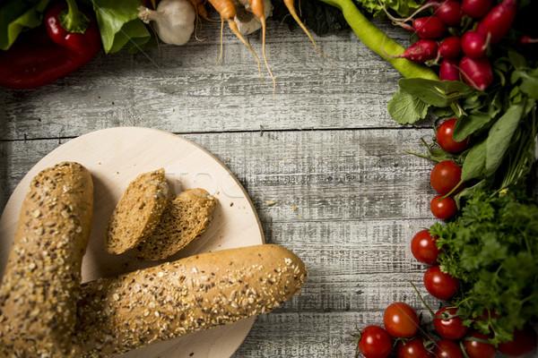 Сток-фото: хлеб · Cut · частей · совета