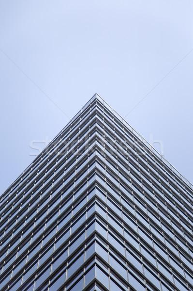 Modern üveg homlokzat irodaház Tokió felhőkarcoló Stock fotó © boggy