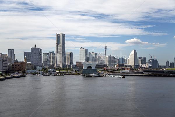 Иокогама Япония Skyline современных район воды Сток-фото © boggy