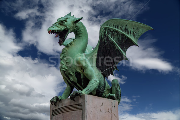 Green dragon Stock photo © boggy