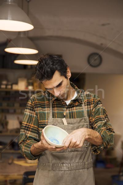 Craftman in workshop Stock photo © boggy