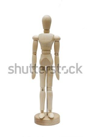 Wooden dummy isolated on a white background Stock photo © boggy