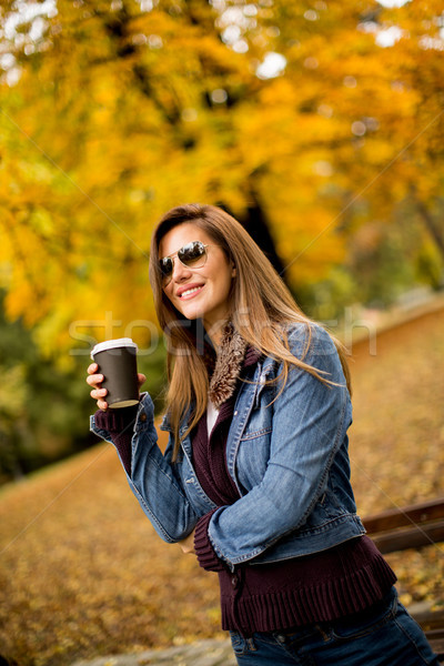 Woman with coffee Stock photo © boggy