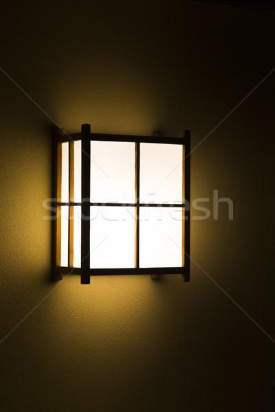 Citromsárga japán lámpás fa terv háttér Stock fotó © boggy