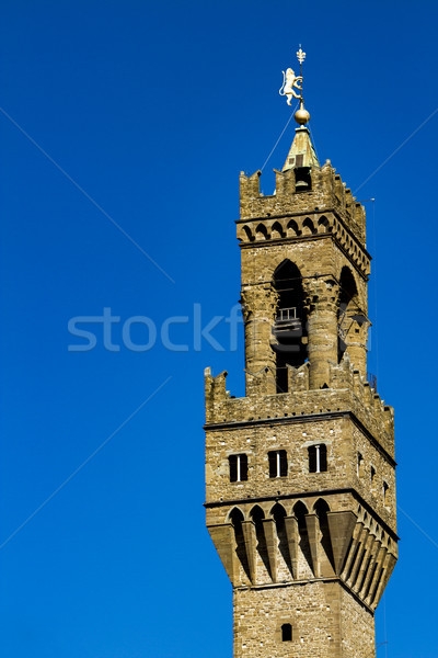 Tower of Palazzo Vecchio in Florence Stock photo © boggy