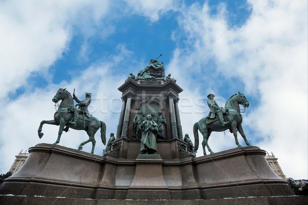Statue of Empress Maria Theresia in Vienna, Austria Stock photo © boggy