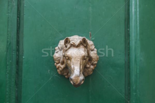 Edad vintage puerta manejar Florencia Italia Foto stock © boggy