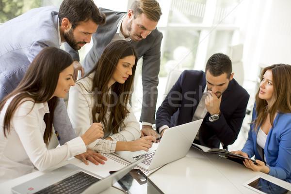 деловые люди мозговая атака служба конференции современных бизнеса Сток-фото © boggy