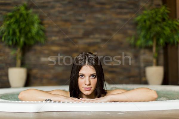 Vasca idromassaggio donna natura modello spazio Foto d'archivio © boggy