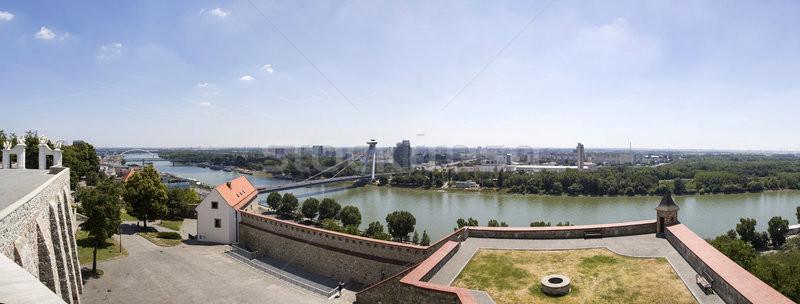 Bratislava Burg Slowakei Ansicht Gebäude Architektur Stock foto © boggy