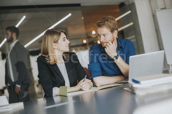 Business people working in office and collaborating Stock photo © boggy