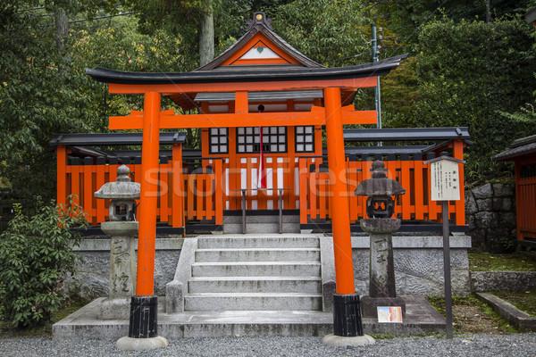 Kyoto Japon détail bâtiment rouge Photo stock © boggy