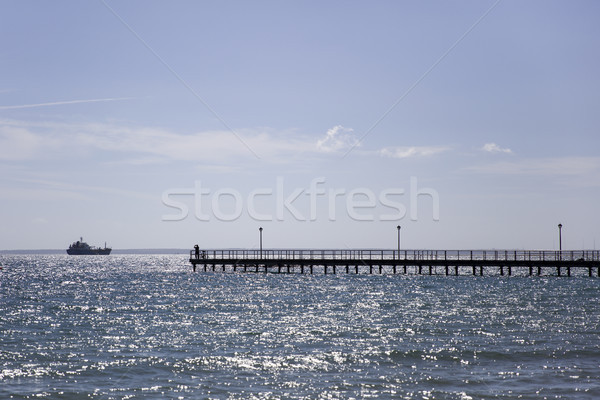 Pier on Mediterranean sea at Limassol Stock photo © boggy