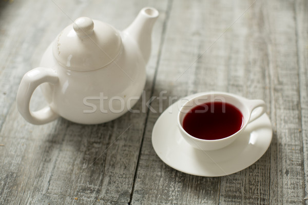 カップ 茶 ティーポット 木製 ドリンク 朝食 ストックフォト © boggy
