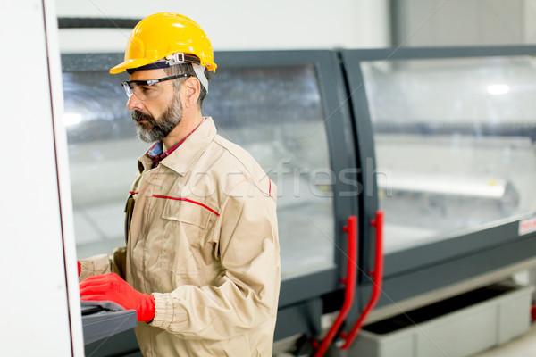 портрет инженер завода человека промышленности Сток-фото © boggy