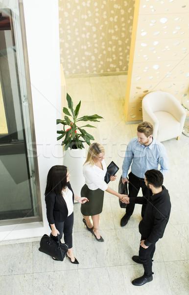 Vista profesional gente de negocios pie alrededor Foto stock © boggy