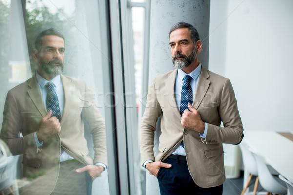 Barbado guapo empresario retrato negocios Foto stock © boggy