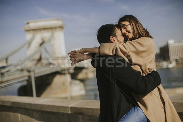 Casal amor magnífico ver Budapeste Foto stock © boggy
